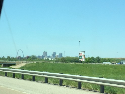 Our first glimpse of the arch!